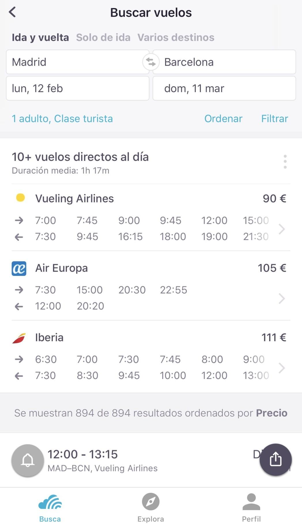 Cómo encontrar vuelos baratos con tu móvil  lugar concreto eb9878b53e7