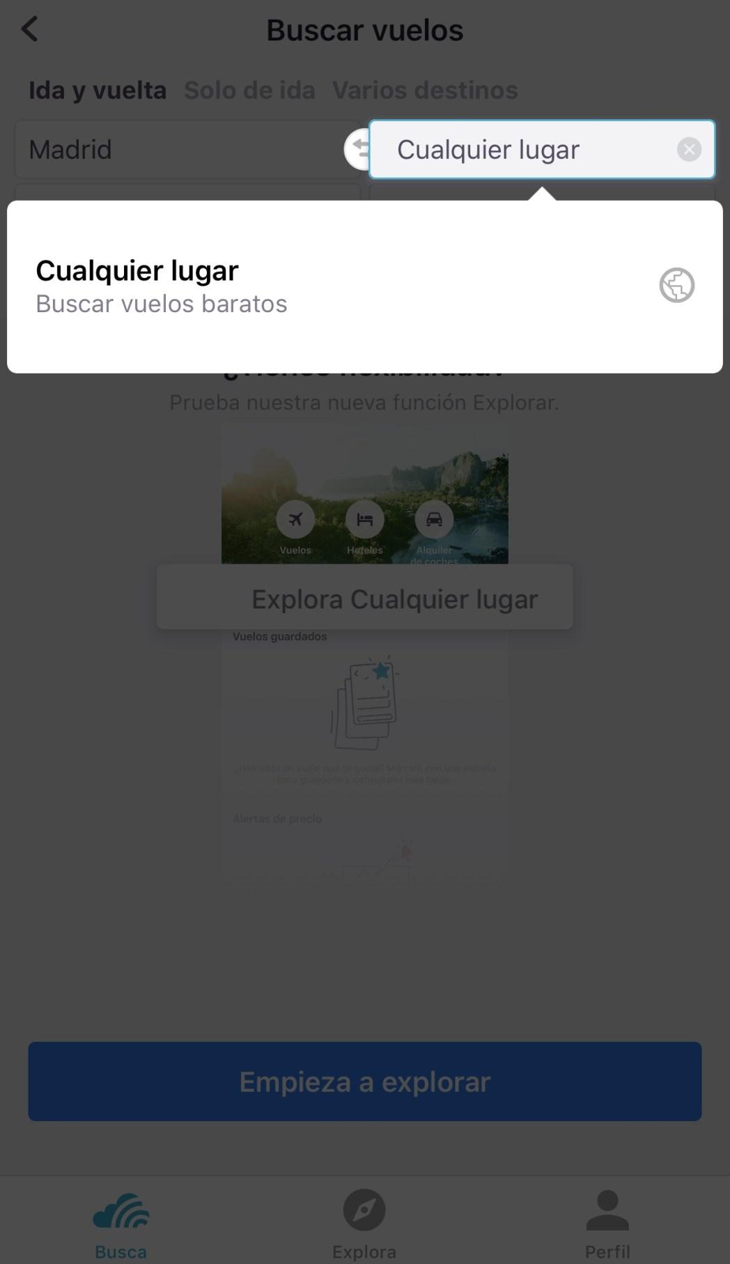 Cómo encontrar vuelos baratos con tu móvil  a cualquier lugar 2658ccde9bc