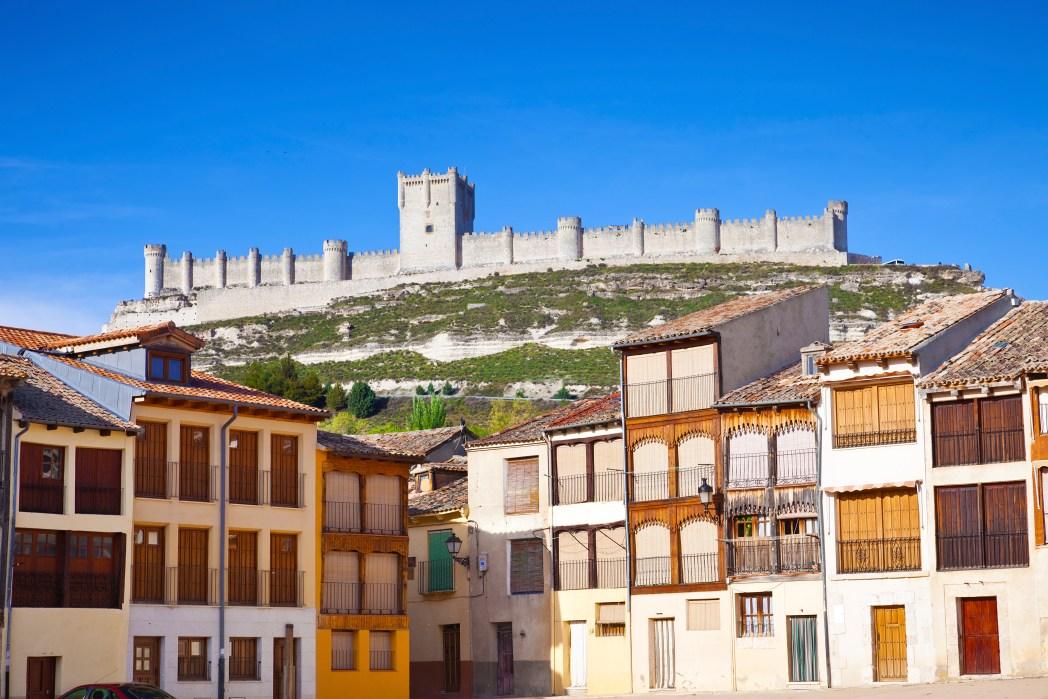 Castillo medieval de Peñafiel en Valladolid
