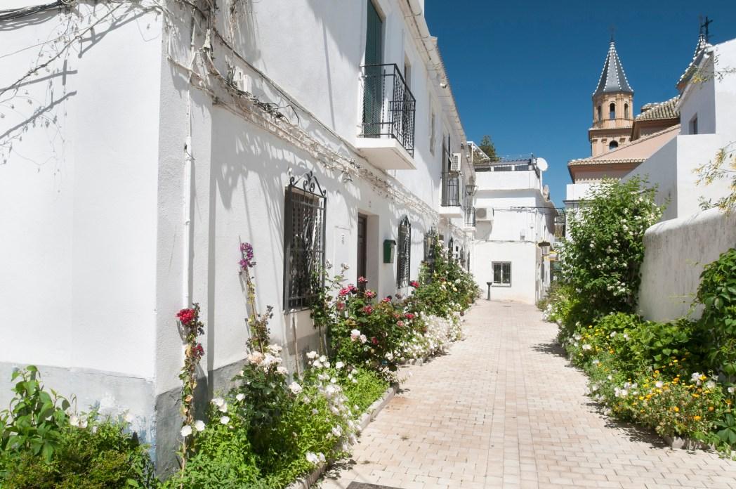 Pueblo blanco en la Alpujarra de Granada