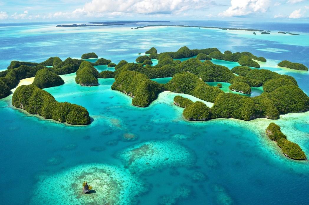 islas roca en Palau