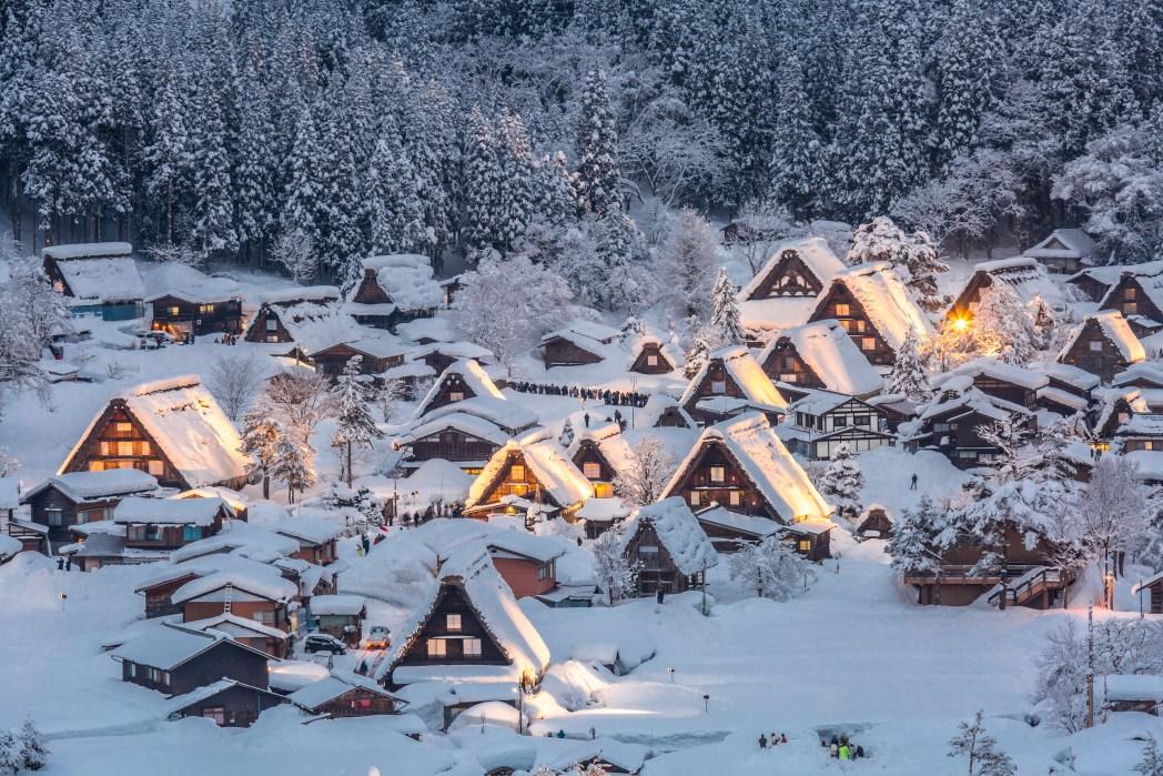 shirakawa-go en invierno