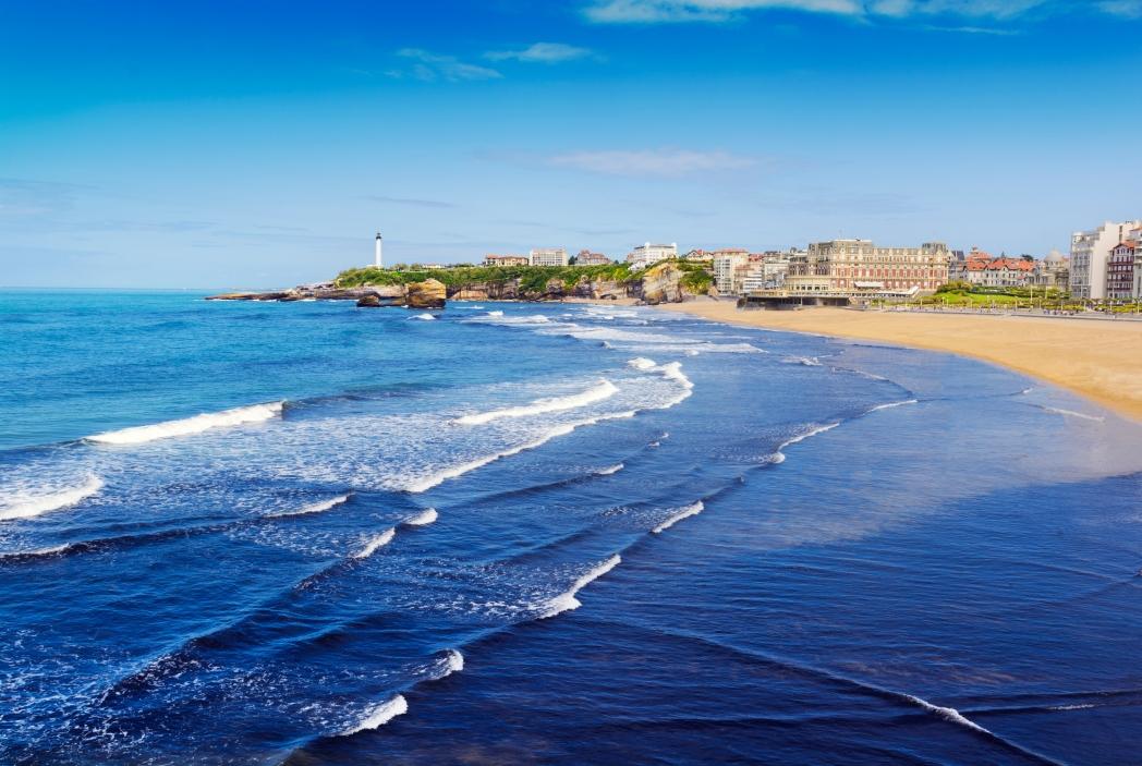 vista de la playa de biarritz