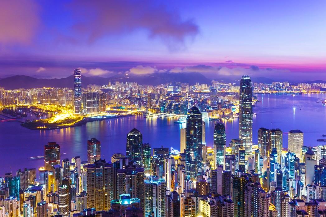 Hong Kong skyline desde Victoria Peak