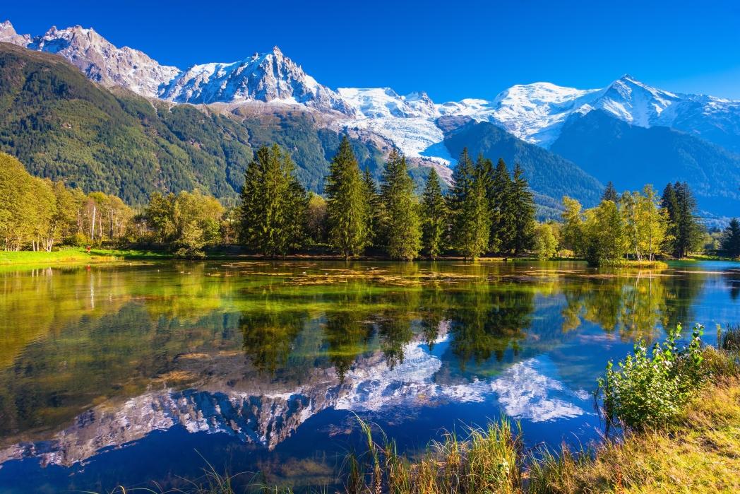 montañas de chamonix en los alpes franceses