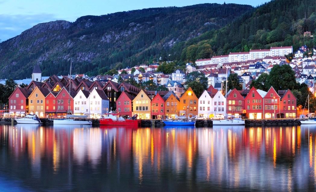 barrio de bryggen en bergen