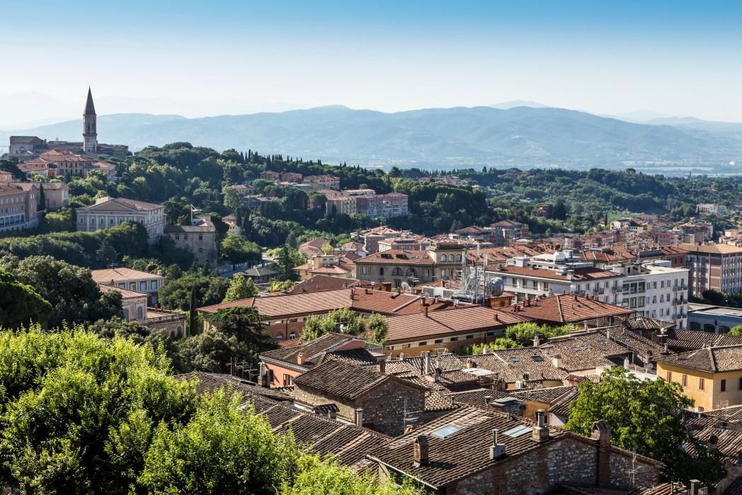 ciudad de asís en umbria italia