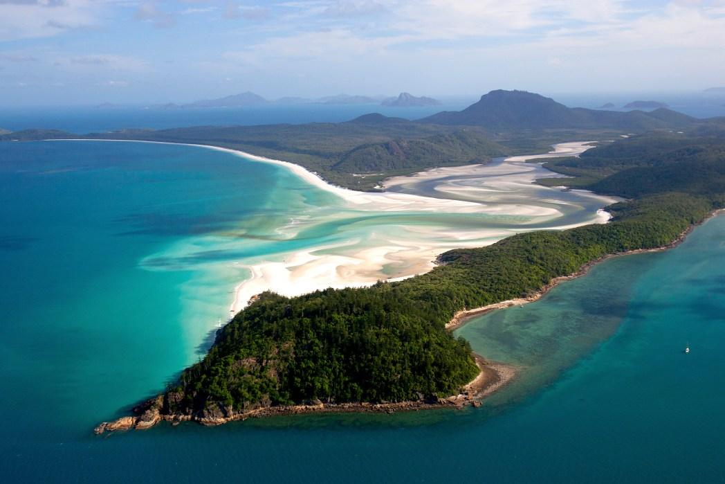 Playa de whitehaven en Australia