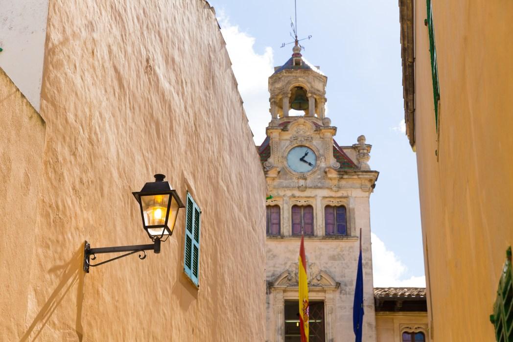 Pueblo de Alcudia en Mallorca