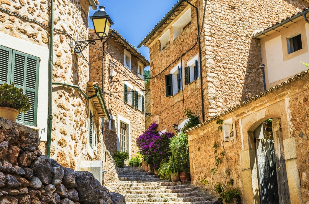Calles de Fornalutx en Mallorca