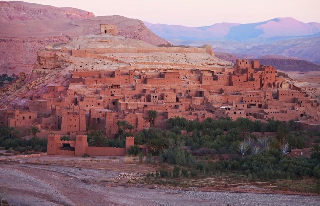 pueblo de Ait-Ben-Haddou en Marruecos