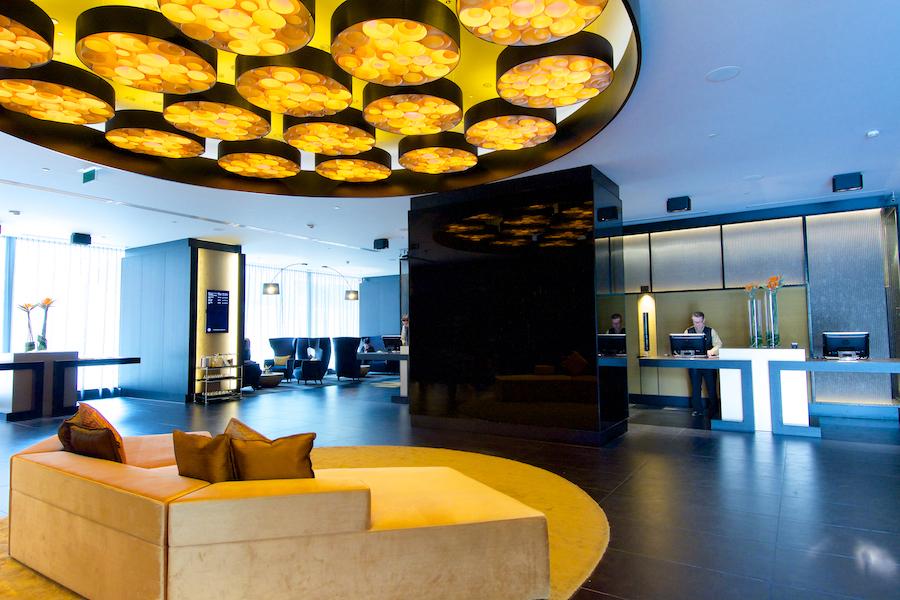 lobby del hotel The hotel de bruselas