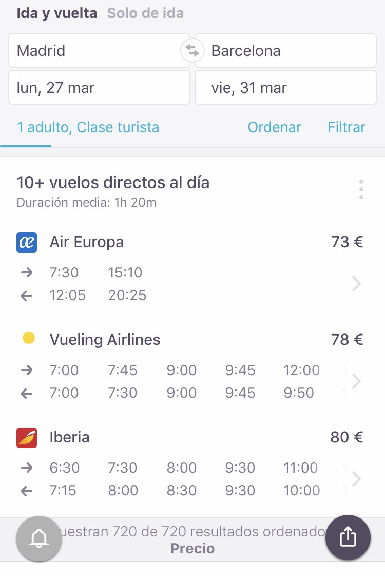 8 trucos para encontrar vuelos baratos con el móvil  5dfd81786f1