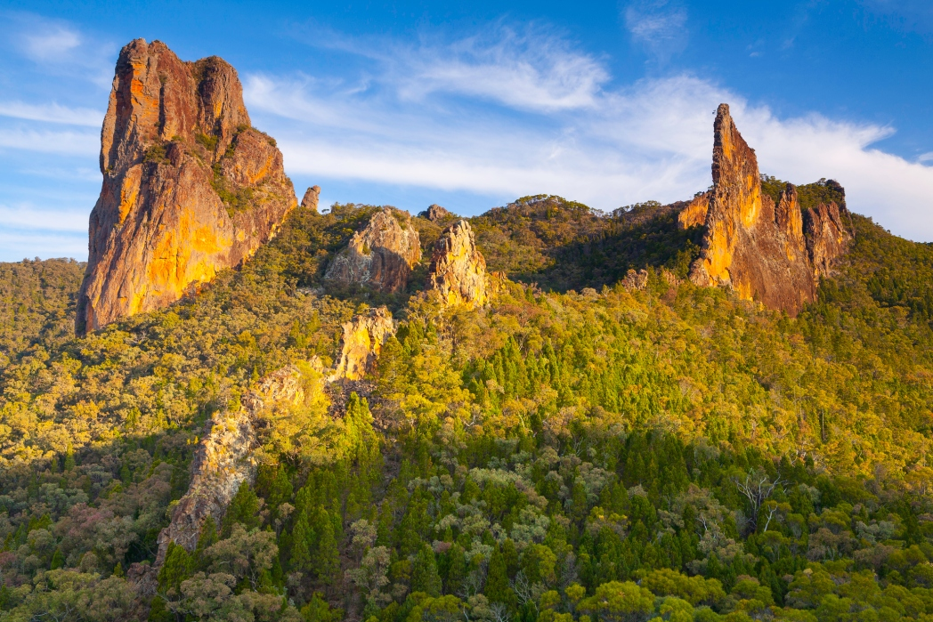 parque nacional de warrumbungle en australia