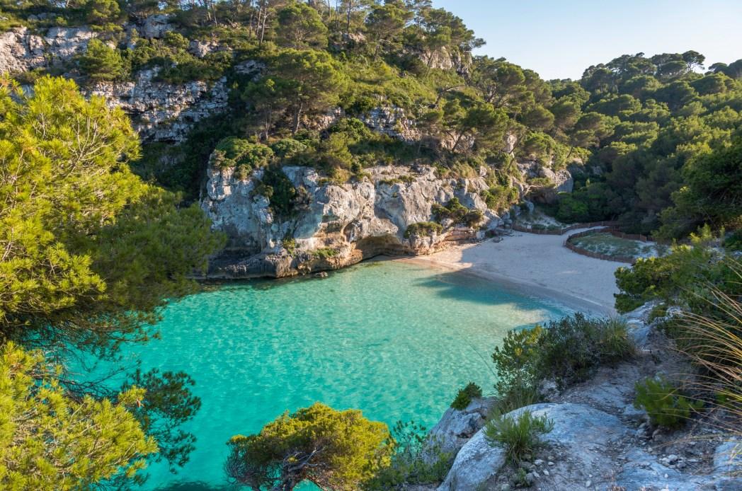 cala Macarelleta en Menorca, Islas Baleares
