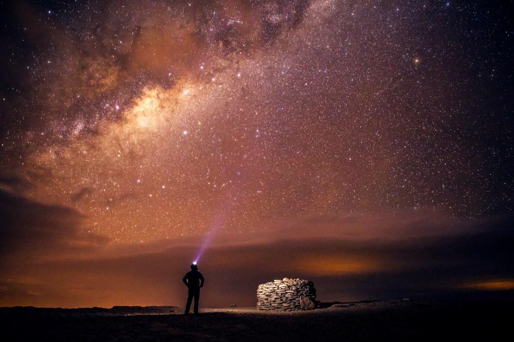 observación de estrellas en el desierto de atacama en chile
