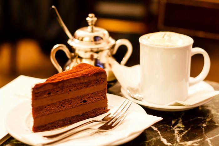 café y tarta en Viena