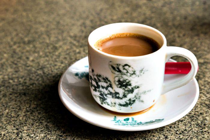 café típico en singapur