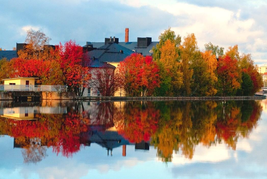 rio oulujoki en finlandia