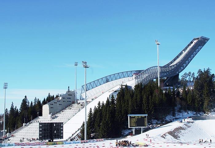 museo de los saltos de esquí Holmenkollen en oslo