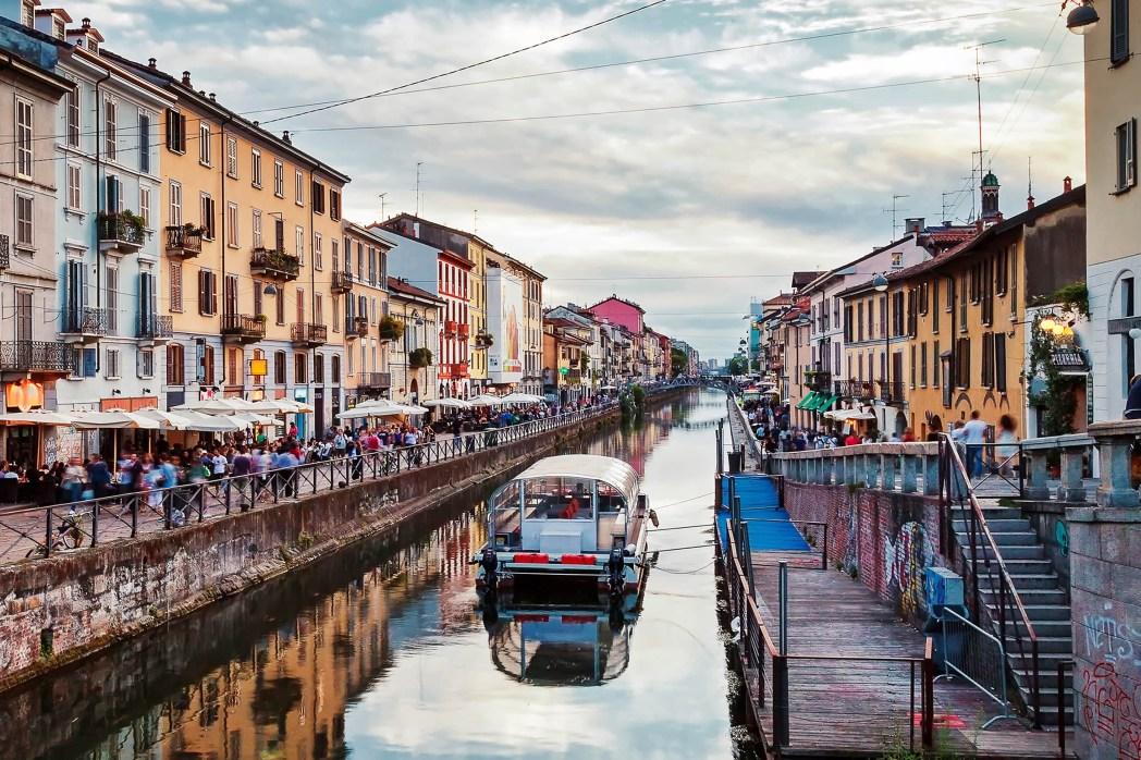 barrio de los navigli en milán