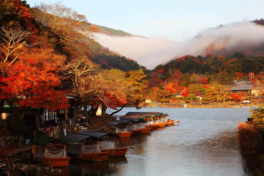arashiyama en otoño japón