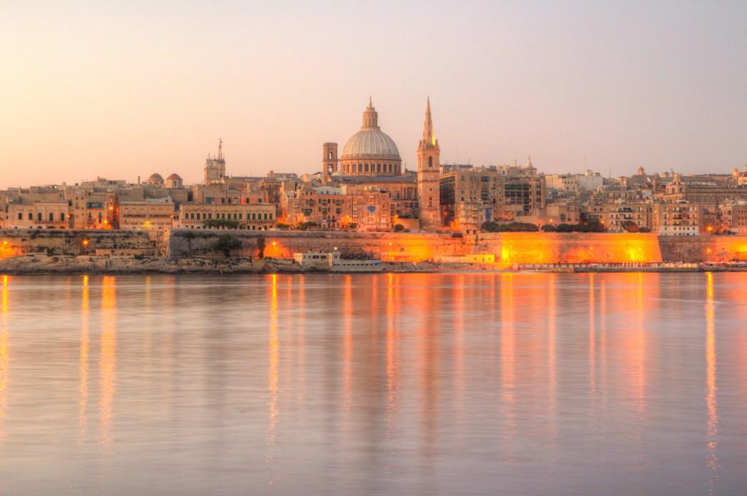 atardecer en la valletta Malta