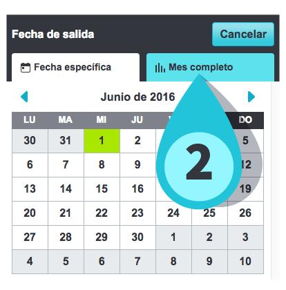 búsqueda de mes completo en la app de Skyscanner