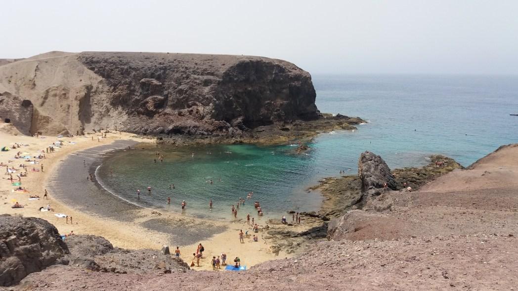 playa de Papagayo en Lanzarote, Canarias