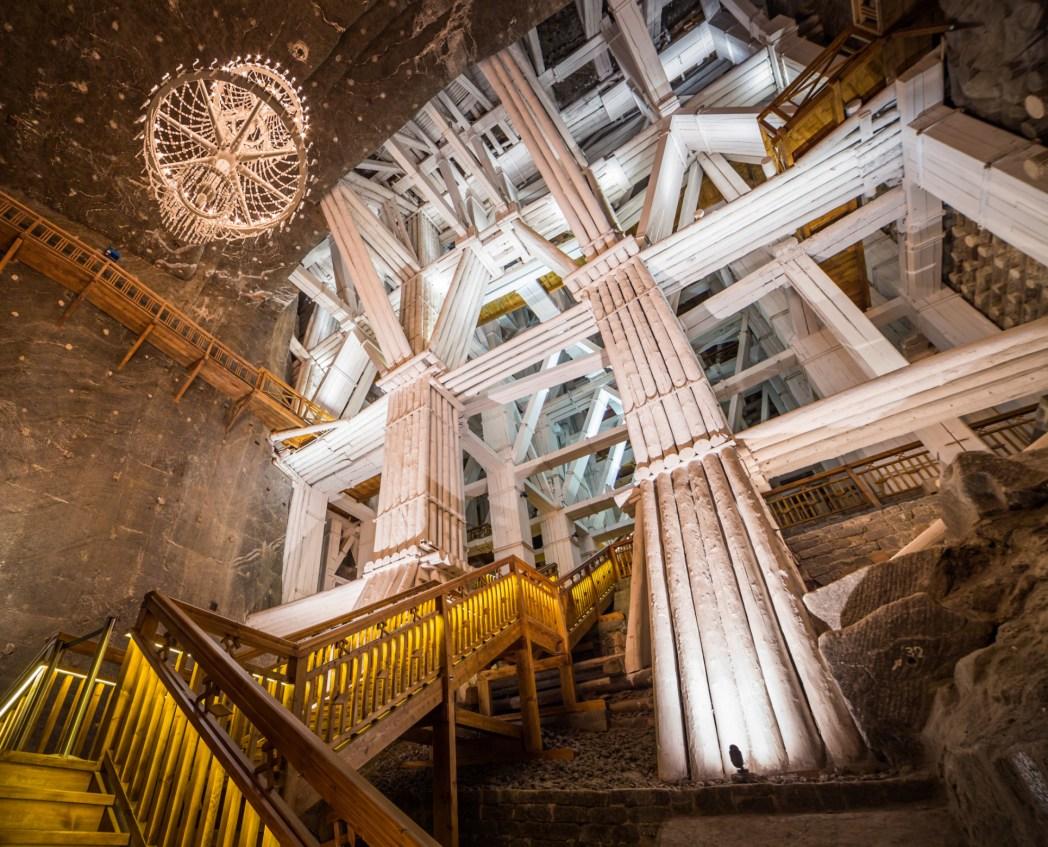 mina de sal de wieliczka en polonia
