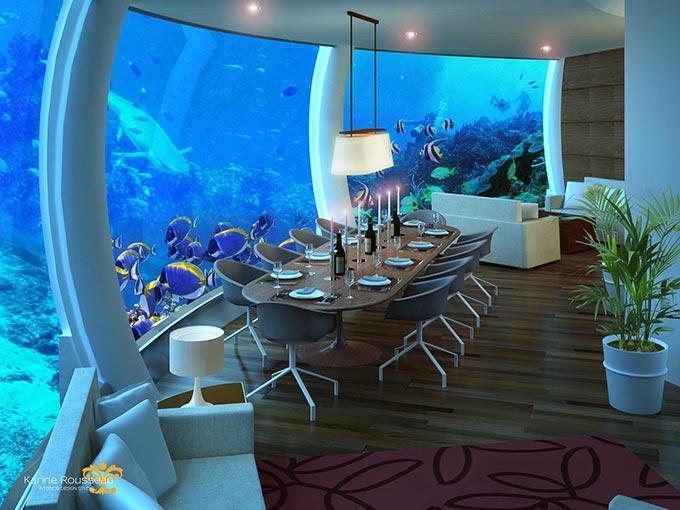 Los mejores hoteles bajo el agua de dub i a las maldivas for Habitacion de hotel bajo el mar