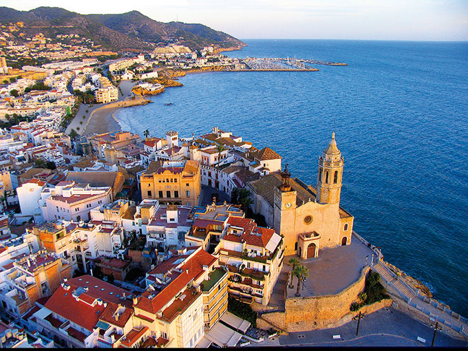 Aerial view of Sitges Catalonia
