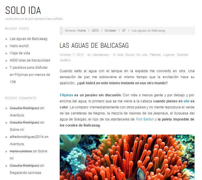 blog solo ida