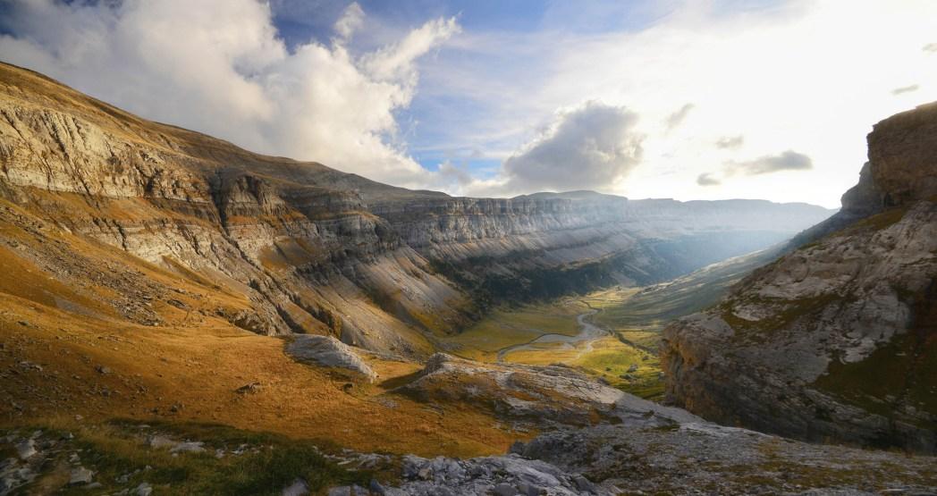 cañón en el parque nacional de ordesa