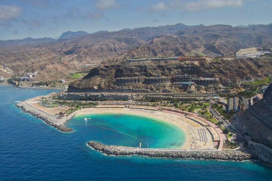 vista aérea de amadores en Gran Canaria