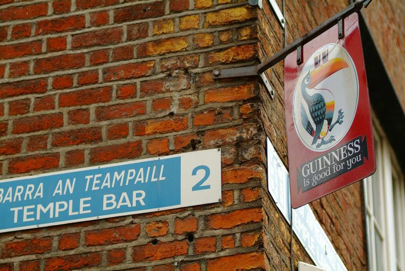 señal de la calle Temple Bar