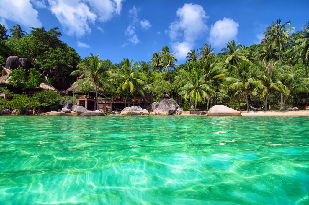 paraíso tropical en la isla de Koh Tao en Tailandia