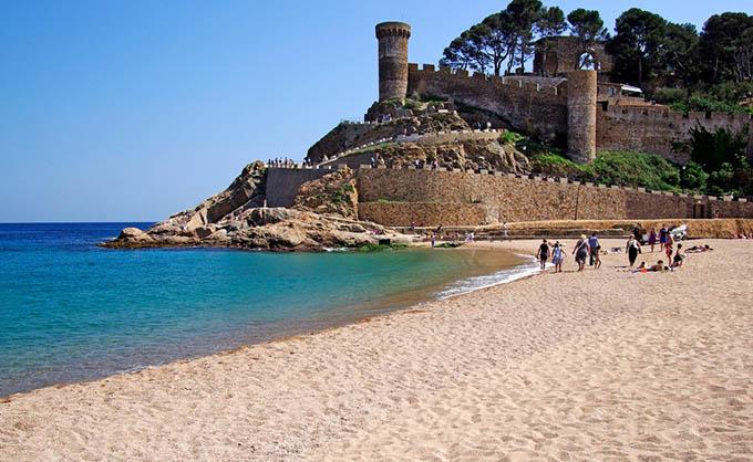 Tossa de Mar Beach Costa Brava Girona Spain Catalonia