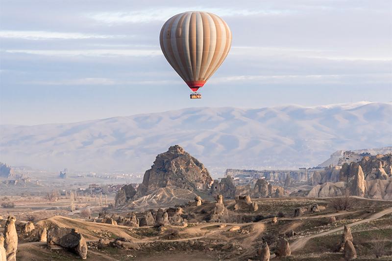 globos aerostáticos en capadocia, turquía