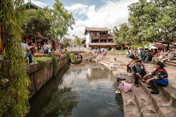 Vistas de Lijiang en China