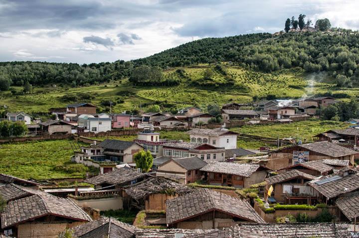 Vistas del pueblo de Shangri La